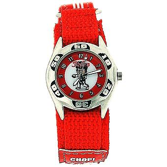 Reflex Quartz Boys Judo - Karate Photo On Dial Easy Fasten Red Watch KID-0081
