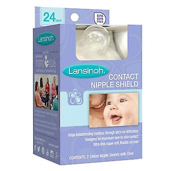 Lansinoh contact nipple shield with carrying case, 2 ea