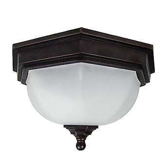 Elstead-1 lys flush lanterne-bronze finish-GZH/FF12