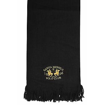 SANTA MONICA Black Knitted Scarf With Tassels
