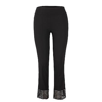 Up! Black Cropped Pull On Trousers