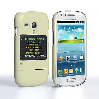 Caseflex Samsung Galaxy S3 Mini Steve Jobs citat fall