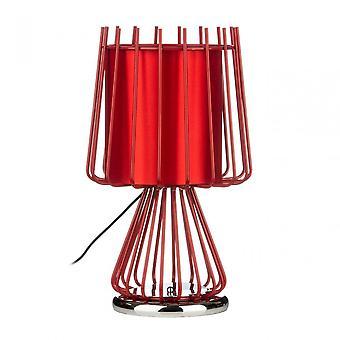 Premier Home Aria bordslampa, keramisk, röd
