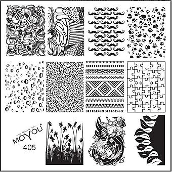 MoYou Square Stamping Nail Art Image Plate - Random & Tribal - 405