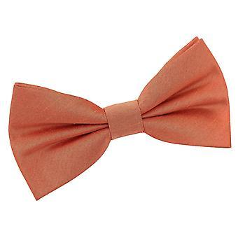 Kobber shantung pre-bundet bow tie
