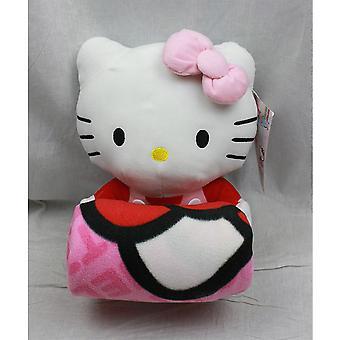 Blanket - Hello Kitty - Plush Doll & Blanket (Pink Bow) Set New Fleece 68390
