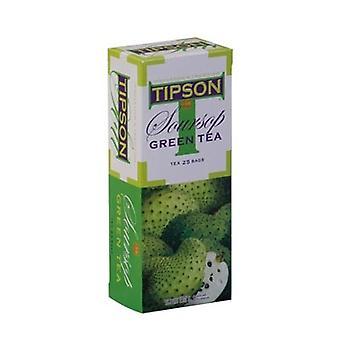 تيبسون الشاي الأخضر مع نكهة الفاكهة الحامضة X 100 أكياس