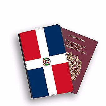 DOMINICAN REPUBLIC Flag Passport Holder Style Case Cover Protective Wallet Flags design