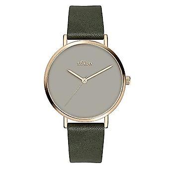 s.Oliver Quartz Women's Analog Clock with SO-3910-LQ Leather Belt