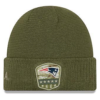 Salut de la nouvelle ère au service hiver chapeau - New England Patriots
