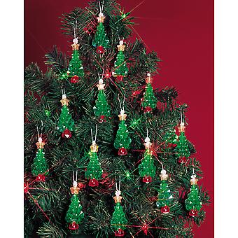 Holiday Beaded Ornament Kit Mini Trees 2 1 4
