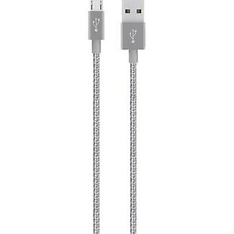USB 2.0 Cable [1x USB 2.0 connector A - 1x USB 2.0 connector Micro B] 1.20 m Grey with sleeve Belkin