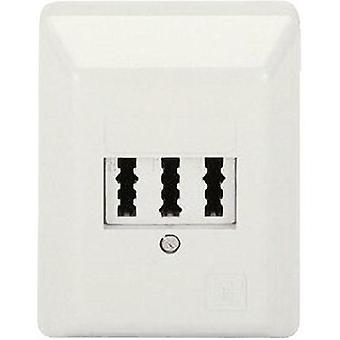 Phone socket Hama 44977 Surface-mount White