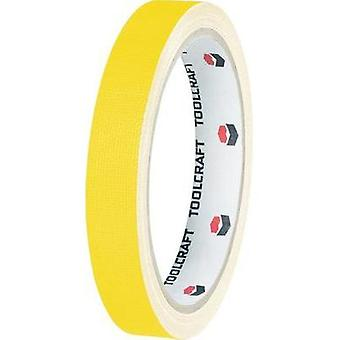 Cloth tape TOOLCRAFT HEB15L10GC Yellow (L x W) 10 m x 15 mm Hot glue (HMA) Content: 1 Rolls