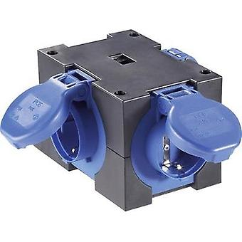 3x Socket splitter PCE 9430406 Black, Blue