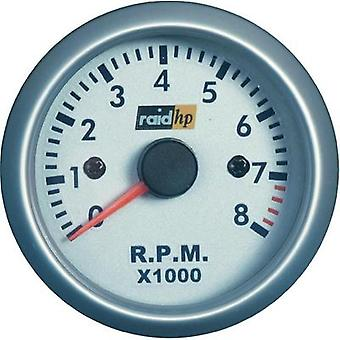raid hp 660266Tachometer Speed 0 to 8000 rpm 12V