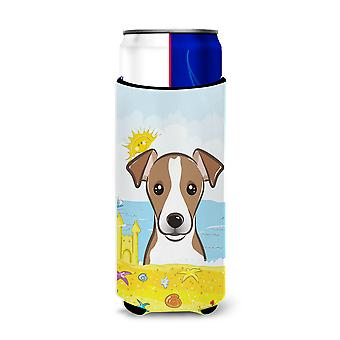 Jack Russell Terrier Summer Beach Michelob Ultra Koozies for slim cans BB2128MUK