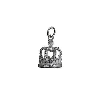 Silver 18x12mm Royal Crown Pendant or Charm
