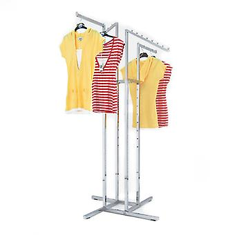 Four Straight & Sloping Arm Chrome Clothes Rail
