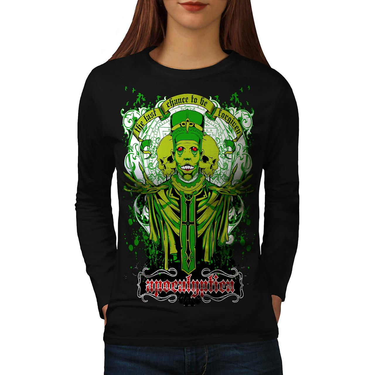 Forgiven Apocalypse Evil Belief Women Black Long Sleeve T-shirt | Wellcoda