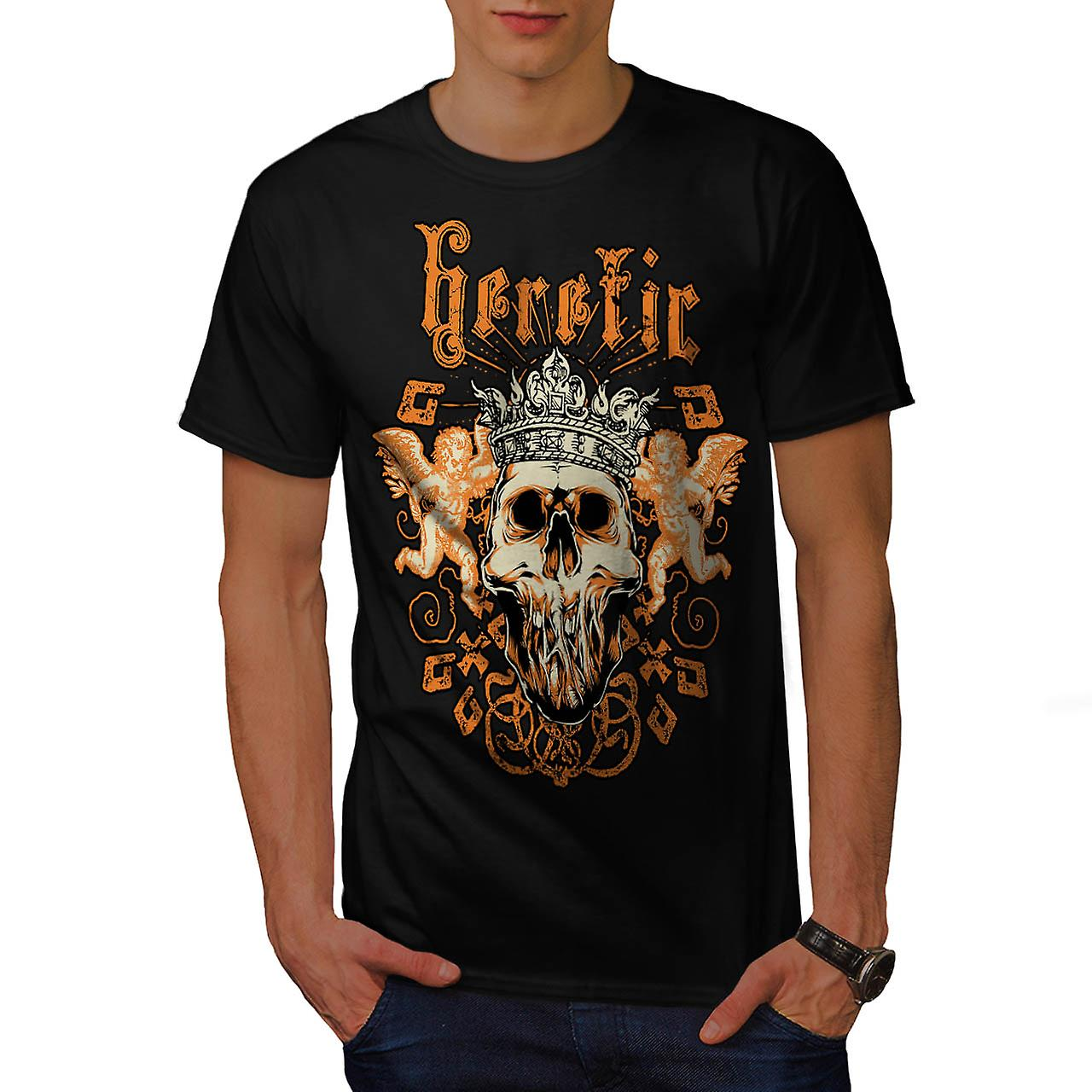 Heretic Monster King Skull Rage Men Black T-shirt | Wellcoda