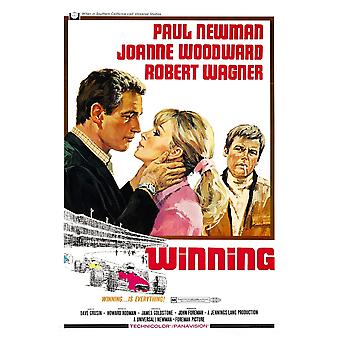 Winning From Left Paul Newman Joanne Woodward Robert Wagner 1969 Movie Poster Masterprint