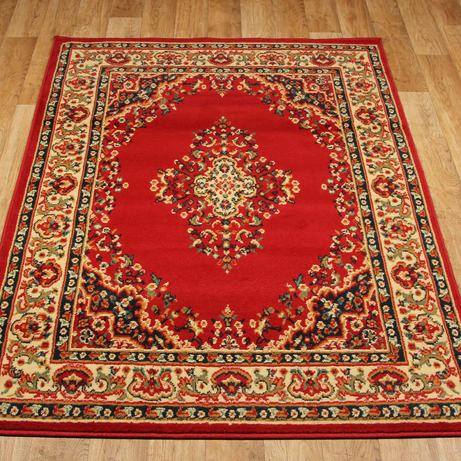 Keshan Rugs 112 R Red Aubusson