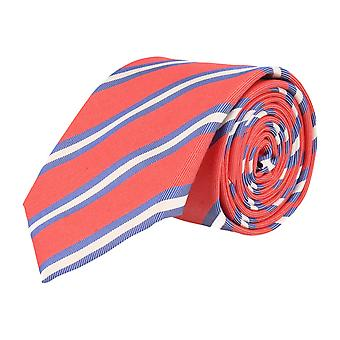 Pellens & Loïck classic tie silk cotton silk tie red - blue-white striped