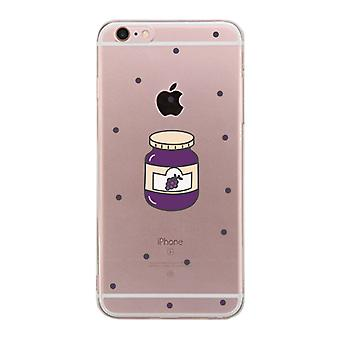 Apple iPhone 6 6S Plus Transparent BFF Matching Phone Cover (Each Other - Jelly)