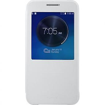 Huawei view window cover case for Ascend G7 - white
