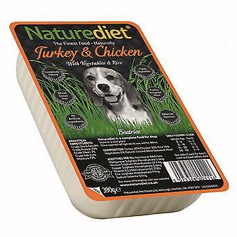 Naturediet Tyrkiet & kylling med grøntsager & ris 390g (pakke med 18)