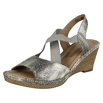 Ladies Remonte X Strap Summer Wedge Sandals D6732