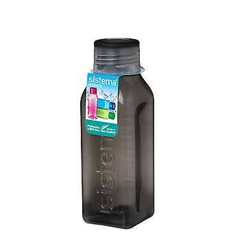 Sistema Hydrate 475ml Square Drink Bottle, Black