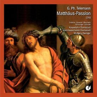 Georg Philipp Telemann - Georg Philipp Telemann: Matth os-Passion [CD] USA import