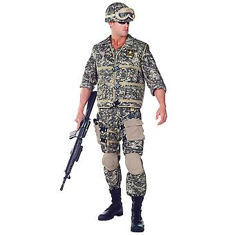 US Army Ranger Deluxe Soldier Military Uniform Navy Combat Men Costume One Size