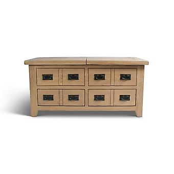Direct Home Living Natural Oak Storage Coffee Table With Drawers