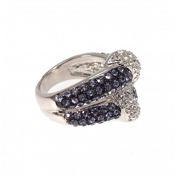 W.A.T Sparkling Crystal Knot Ring