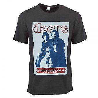 Amplified Mens The Doors Riverside T Shirt Charcoal
