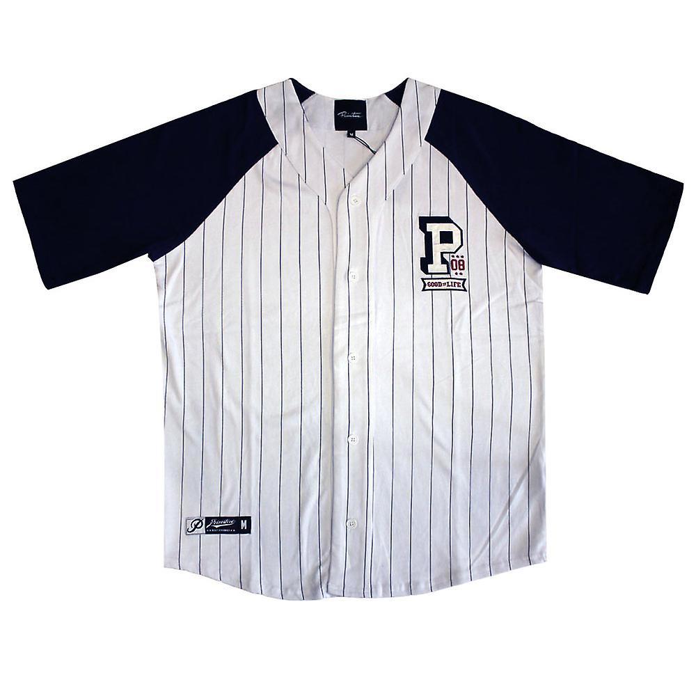 Primitive Apparel Collegiate Baseball Jersey White Navy