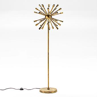 Wellindal Lámpara De Pie 50x30x150 Metal Dorado (Home , Lighting , Floor lamps)