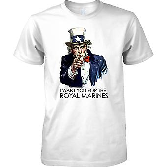 Jag vill att du för Royal Marines - Cool rekrytering affisch - barn T Shirt