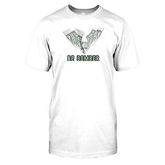 Mens t-skjorte DTG Print - B2 Bomber - gjort av penger - US Air Force-