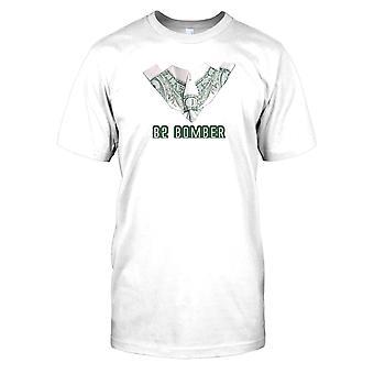 Heren t-shirt DTG Print - B2 Bomber - Made OF Money - US Air Force-