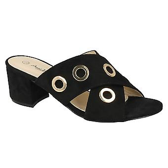Anne Michelle Womens/Ladies Mid Heel Eyelets X Vamp Shoes