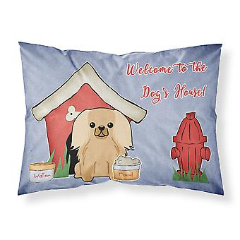 Dog House Collection Pekingnese Fawn Sable Fabric Standard Pillowcase