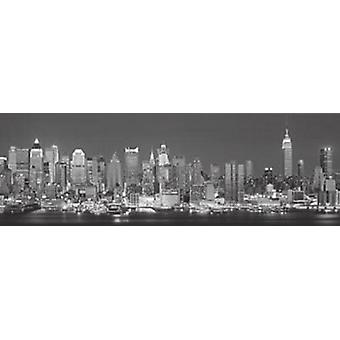 The Silver City - New York Sky Poster Poster Print