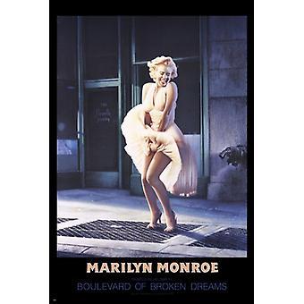 Marilyn Monroe - Blvd Broken Dreams plakat plakat Print