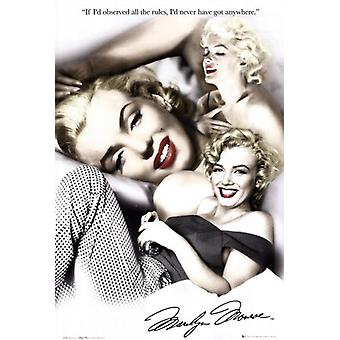 Marilyn Monroe - rules Poster Poster Print