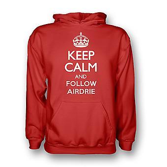 Mantenere la calma e seguire Airdrie Hoody (rosso)