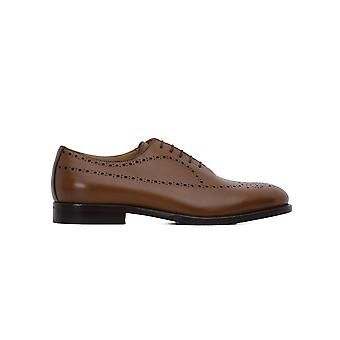 Rossi mens 5892C Brown leather lace-up shoes